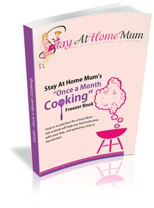 Once a Month Cooking - a new Time Saving Cookbook by the Stay at Home Mum